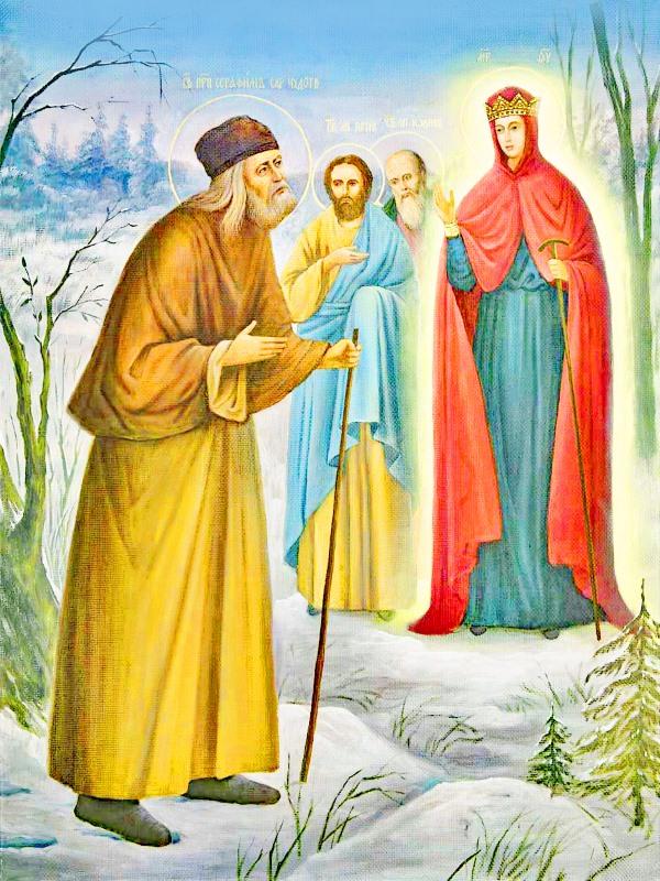 иконе Божией Матери Серафимо-Дивеевская Игумения