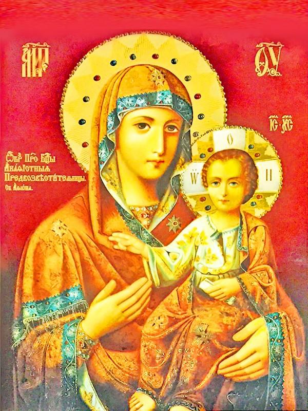 иконе Божией Матери Зографская Акафистная